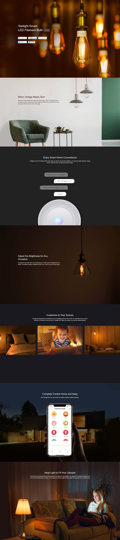 Pametna LED Žarnica Yeelight ST64