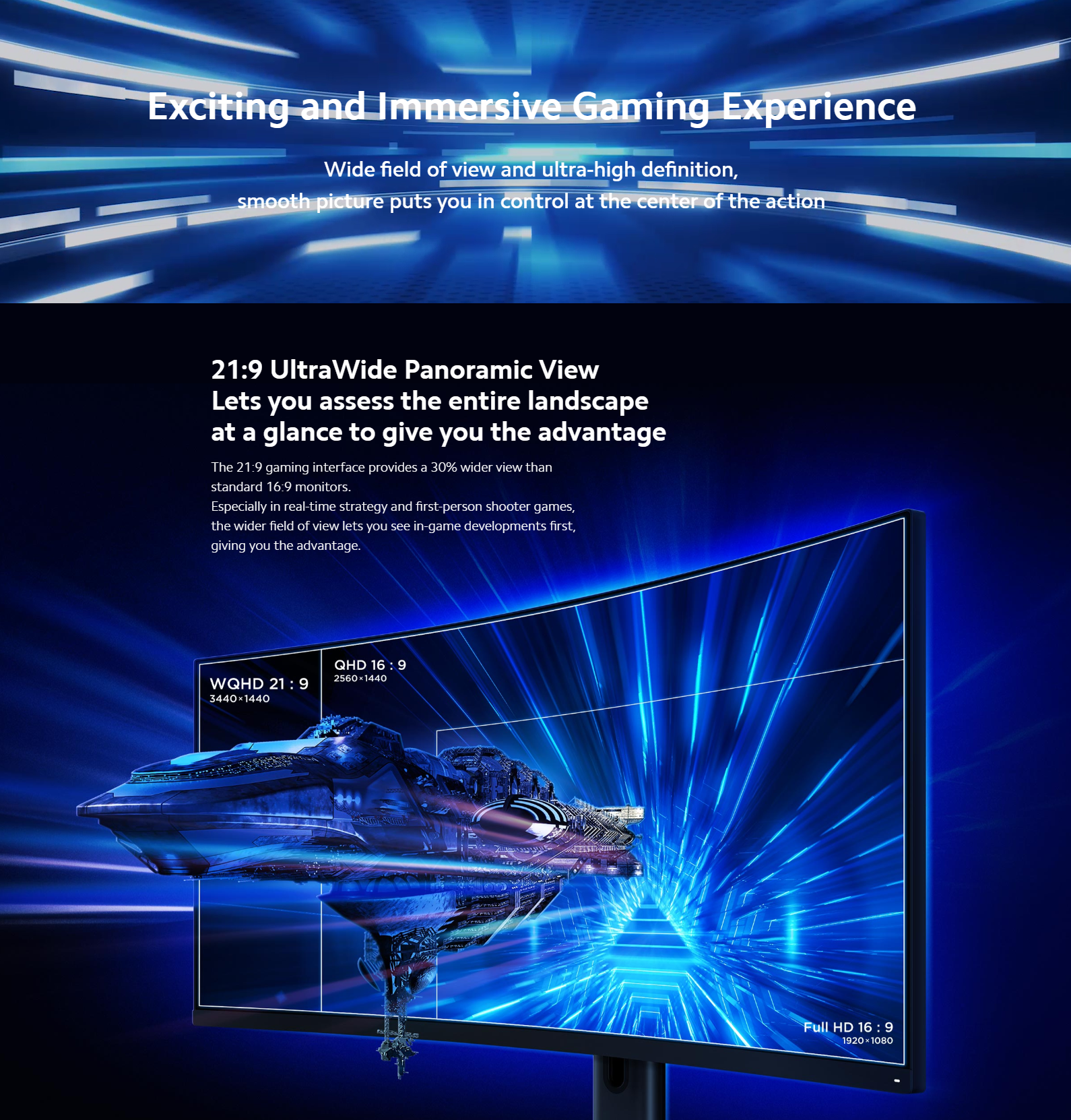 "Xiaomi Ukrivljen Gaming Monitor 34"""