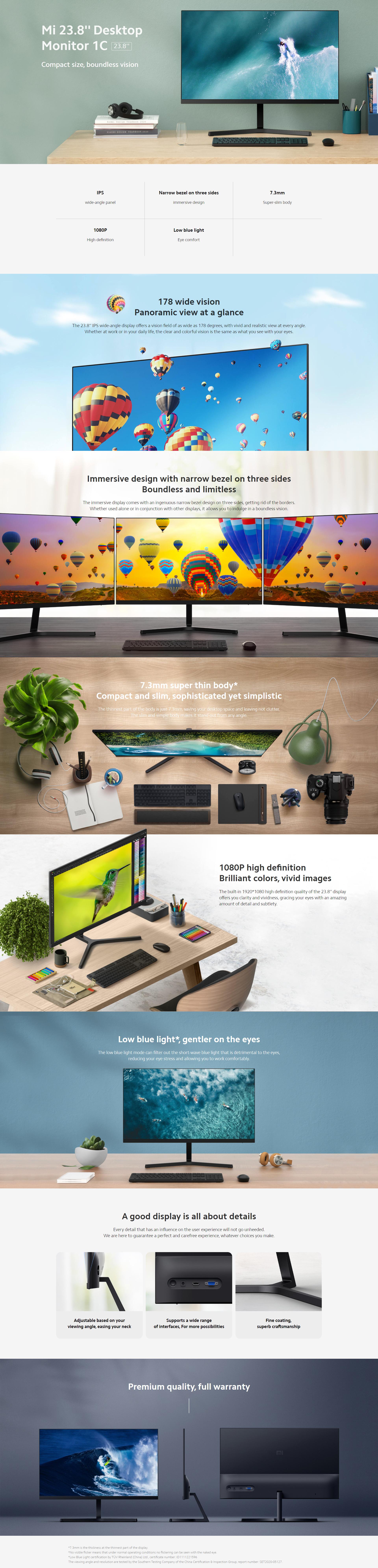 """Xiaomi Mi Desktop Monitor 1C 23.8"""""""