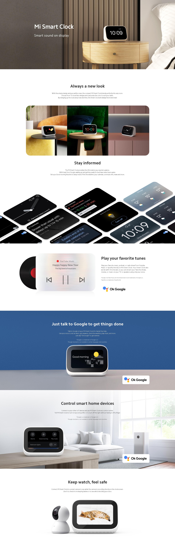 Xiaomi Pametna Budilka Mi Smart Clock